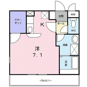 ソレジオ鎌倉II2階Fの間取り画像