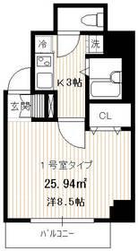 PALAZZO秀亜6階Fの間取り画像