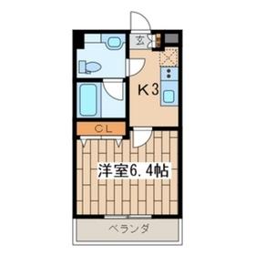 ヴァンヴェール11階Fの間取り画像