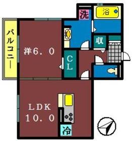 ミーツ 2(藤原)3階Fの間取り画像