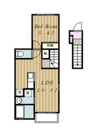 ラ ヒル ノーヴァ2階Fの間取り画像