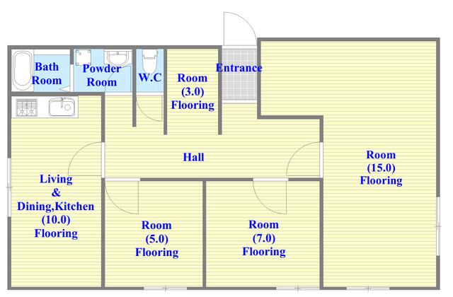 部屋数が多いお家です。