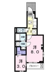本厚木駅 バス19分「下戸田」徒歩4分1階Fの間取り画像