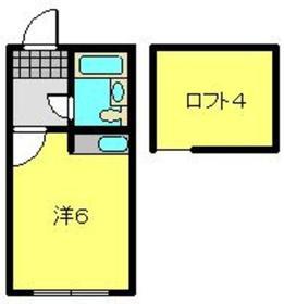 上大岡駅 徒歩10分2階Fの間取り画像