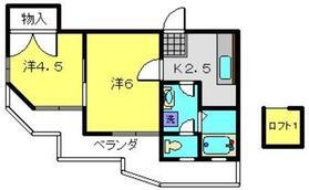 アメニティ清水ヶ丘2階Fの間取り画像