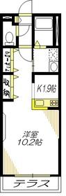 カサ グランデ Ⅰ1階Fの間取り画像