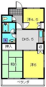 片倉町駅 徒歩22分2階Fの間取り画像