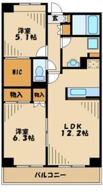 マロンボナール4階Fの間取り画像