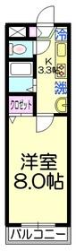 エステート東綾瀬3階Fの間取り画像