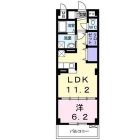 ロイヤル マム3階Fの間取り画像