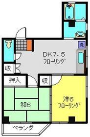 坂口ビル2階Fの間取り画像
