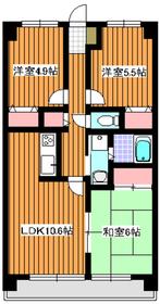 エディフィシオ成増3階Fの間取り画像