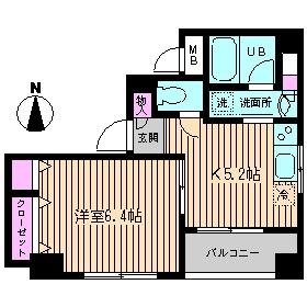 ブランネージュ5階Fの間取り画像