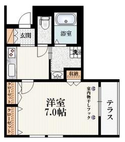maison clavier メゾンクラヴィエ1階Fの間取り画像