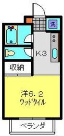 アビタシオンM堀ノ内A棟2階Fの間取り画像