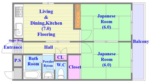 三国プラザ 和室のあるゆとりのある間取りです。
