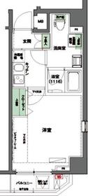 ハーモニーレジデンス東京イースト#0025階Fの間取り画像
