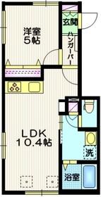 (仮称)南雪谷4丁目メゾン1階Fの間取り画像