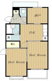 ペティメントI2階Fの間取り画像