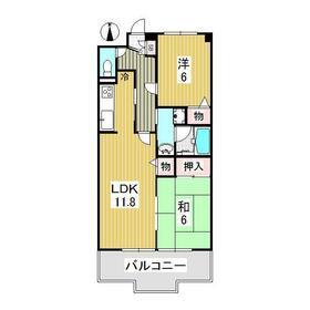 グリーン・リーヴス1階Fの間取り画像