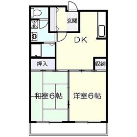 アスタック5432階Fの間取り画像