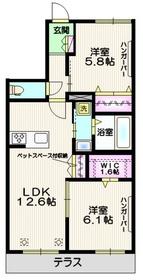 桜区下大久保メゾン1階Fの間取り画像