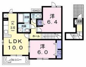 エスタシオン2階Fの間取り画像