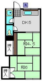 山手ハウス2階Fの間取り画像