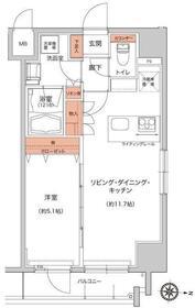 ハーモニーレジデンス錦糸町#00212階Fの間取り画像