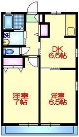 ハイツエイワⅡ2階Fの間取り画像
