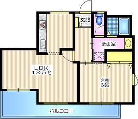 メゾン吉田3階Fの間取り画像