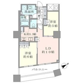 ザ・パークハウス西新宿タワー6020階Fの間取り画像