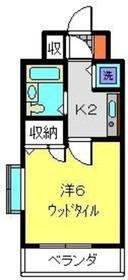 ヴァンテベール6階Fの間取り画像