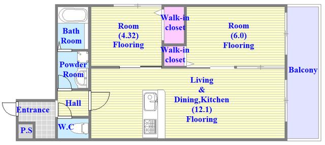 Cherry  人気の全室フローリング。収納スペースも充実しています。