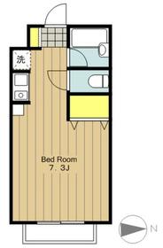 TRYMアパートメント1階Fの間取り画像