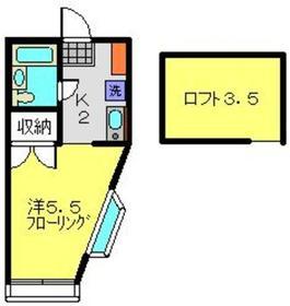 プラネット二俣川1階Fの間取り画像