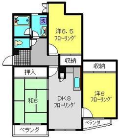富士マンション2階Fの間取り画像