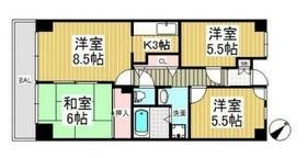 グリーンヒル弥生台6階Fの間取り画像