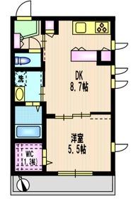 二子玉川駅 徒歩14分1階Fの間取り画像