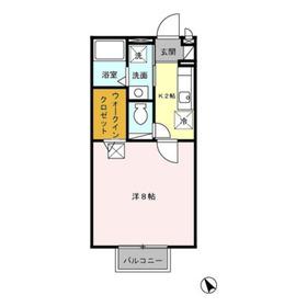グリーンハウスA2階Fの間取り画像