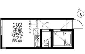 カナーレ鶴見A・B棟2階Fの間取り画像
