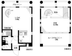 カーサ日本橋8階Fの間取り画像