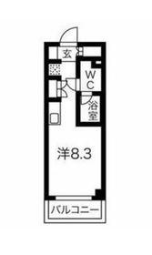 クラリッサ横浜WEST7階Fの間取り画像