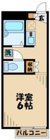レオパレスHIRO1階Fの間取り画像