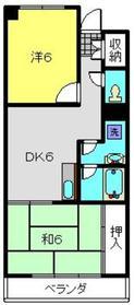 横尾マンション4階Fの間取り画像