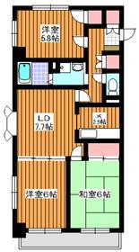 東武練馬駅 徒歩7分2階Fの間取り画像