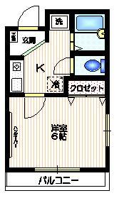 プチメゾン中島2階Fの間取り画像