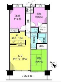 厚木駅 徒歩30分3階Fの間取り画像
