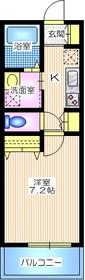 メゾン冨士3階Fの間取り画像