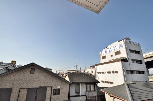 リバーサイド金岡六番館 この見晴らしが日当たりのイイお部屋を作ってます。